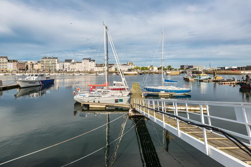 Hafen in Cherbourg-Octeville, Normandie, Frankreich stockbild