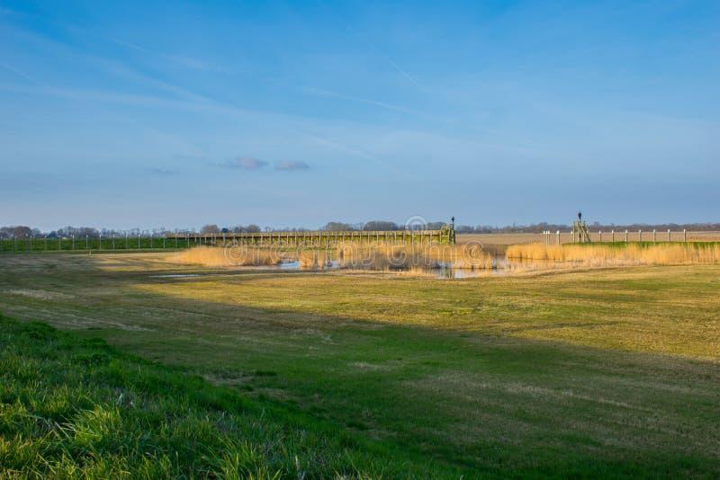 Hafen der ehemaligen Insel Schokland, die Niederlande stockbilder