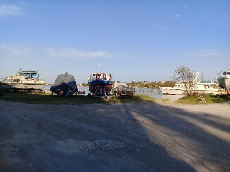 Hafen in der Krim lizenzfreies stockbild