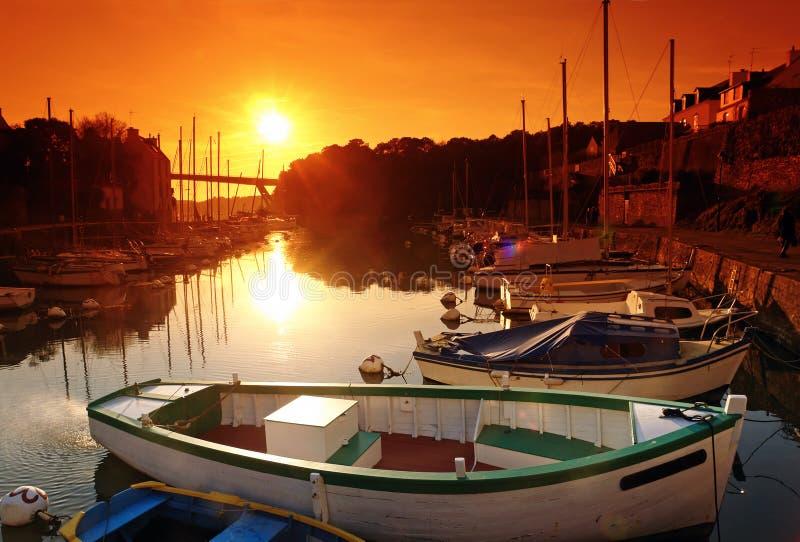 Hafen des Bono-Dorfs stockbilder