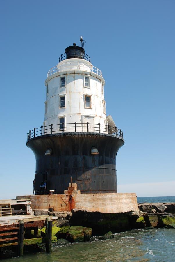 Hafen des Schutz-Leuchtturmes, Lewes, Delaware lizenzfreie stockfotos