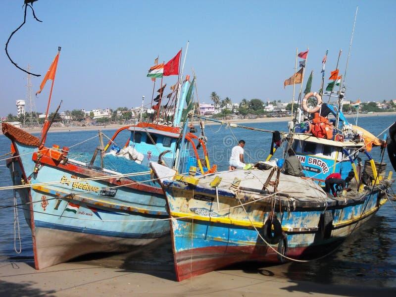 Hafen in Diu/in Indien lizenzfreie stockfotografie
