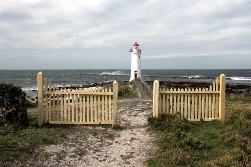 Hafen-feenhafter Leuchtturm auf Griffiths-Insel lizenzfreie stockfotografie