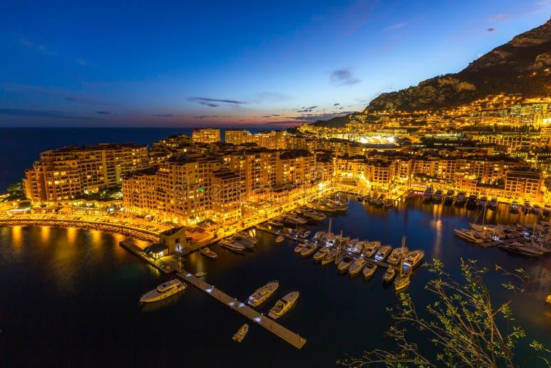 Hafen Fontvieille Monaco lizenzfreies stockbild