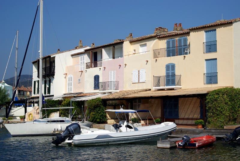 Hafen Grimaud, Frankreich lizenzfreie stockfotos