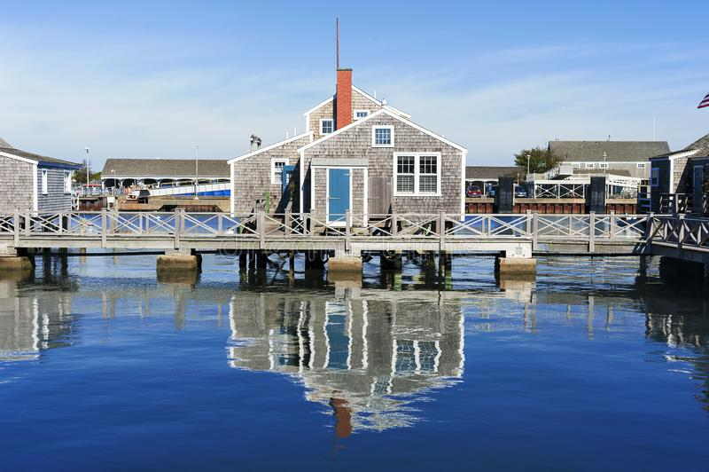 Hafen-Haus in Nantucket stockbild
