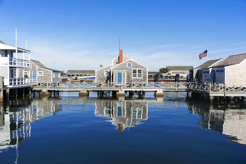 Hafen-Haus in Nantucket lizenzfreie stockbilder