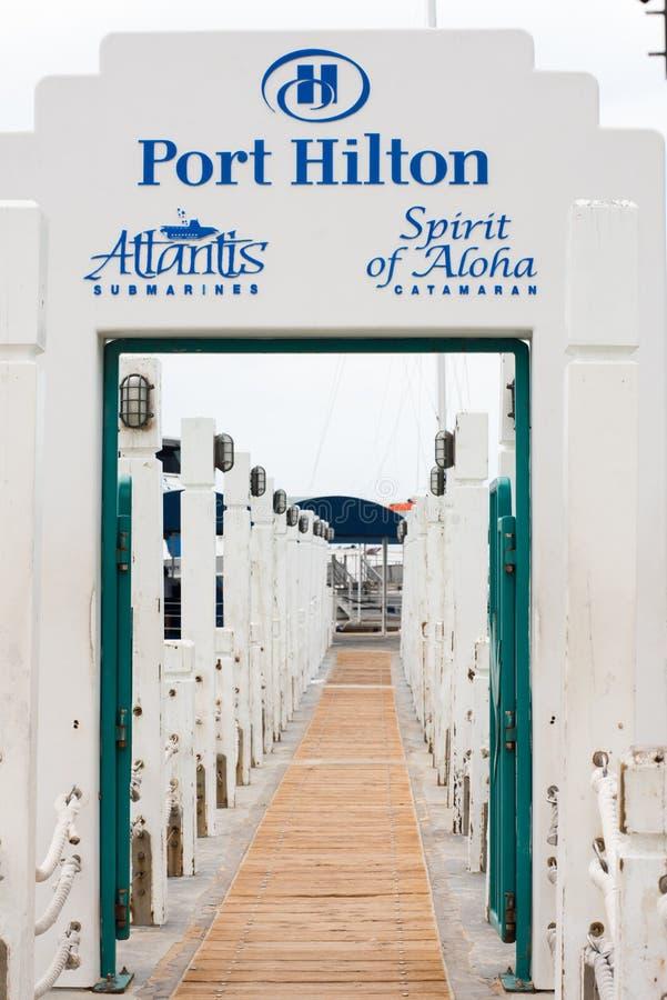 Hafen Hilton Pier stockbild