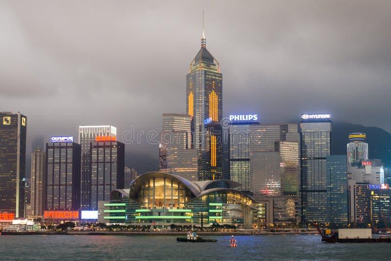 Hafen Hong- Kongvictoria stockbild