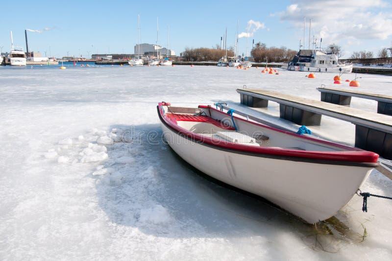 Hafen im Winter stockbilder