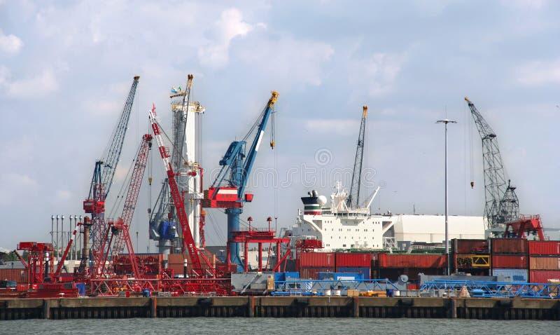 Hafen-Industrie stockfoto