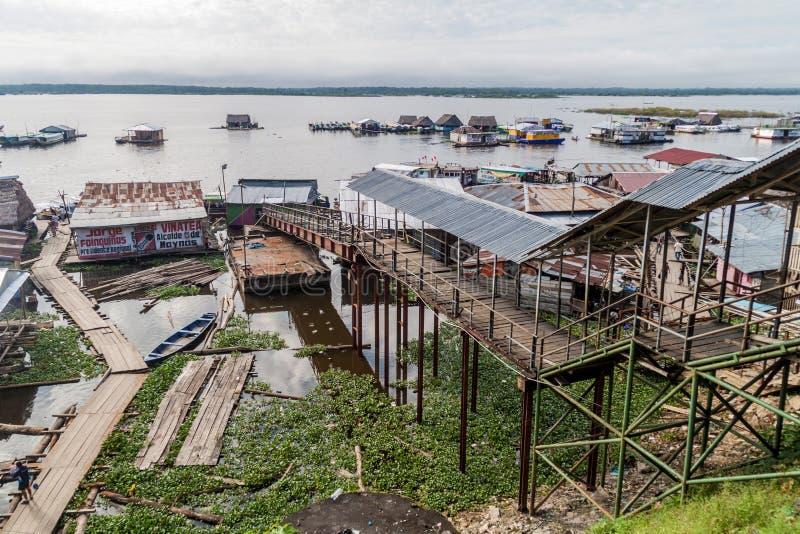 Hafen in Iquitos, Peru stockbild