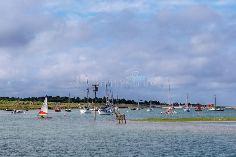 Hafen-Leben bei Wells folgend das Meer lizenzfreie stockfotografie