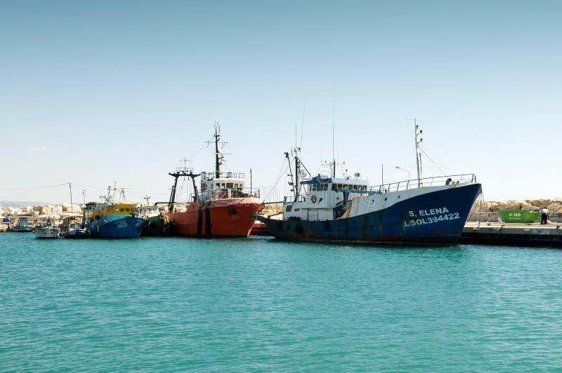 Hafen in Limassol - Zypern stockbild