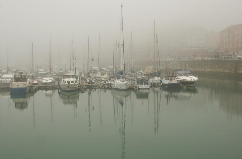 Hafen-Nebel stockbild