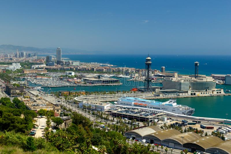 Hafen oder Barcelona lizenzfreies stockfoto