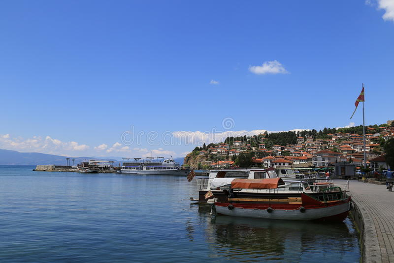 Hafen Ohrid stockfoto