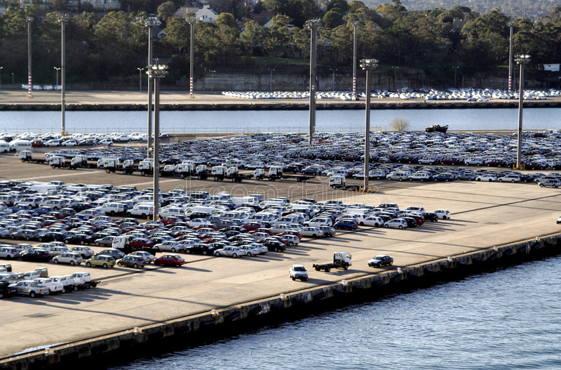 Hafen-Parkplatz stockfoto