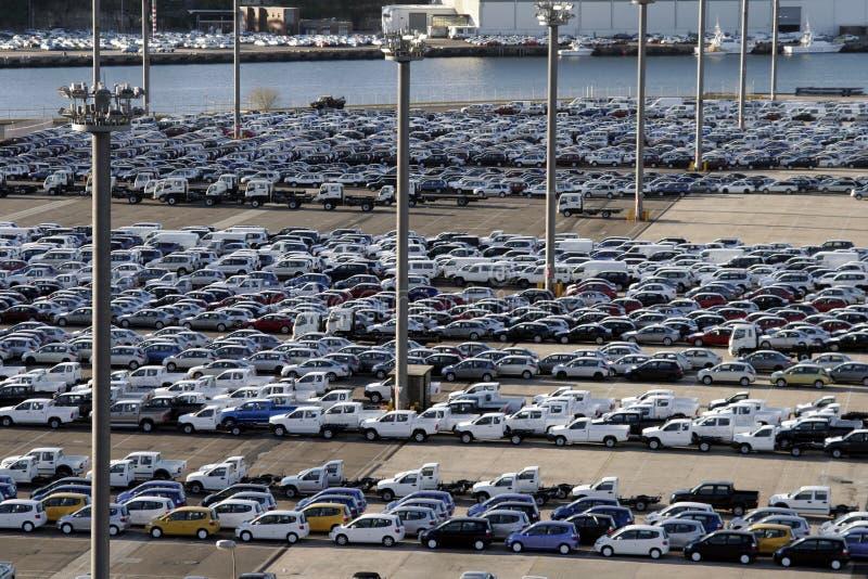 Hafen-Parkplatz stockbilder