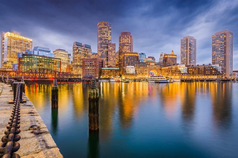 Hafen-Skyline Bostons, Massachusetts, USA stockbilder