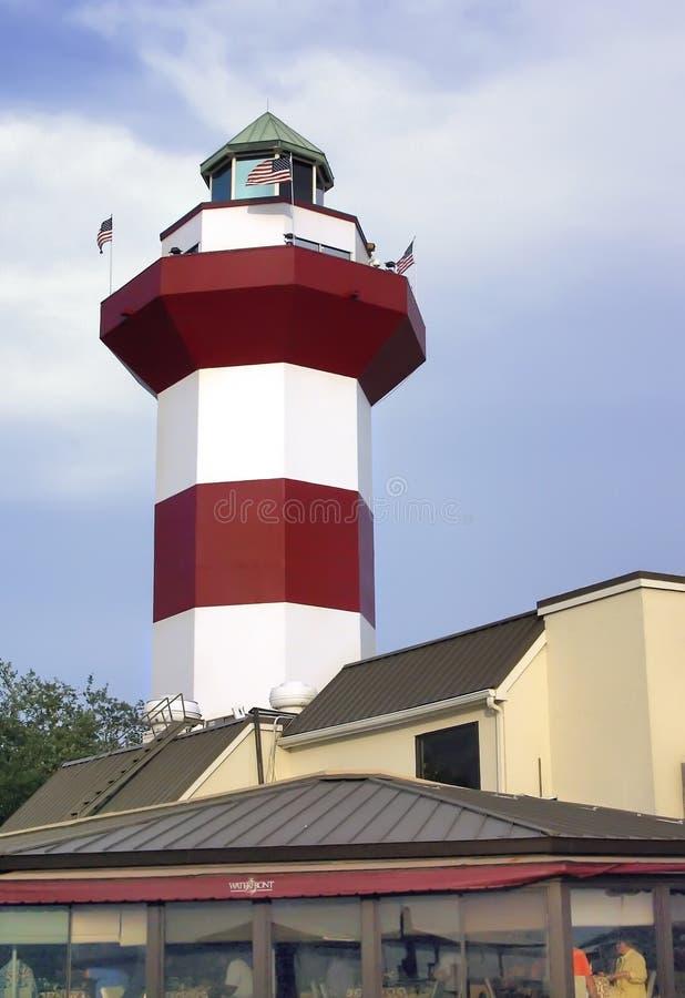 Hafen-Stadtleuchtturm, Hilton Head lizenzfreie stockfotos