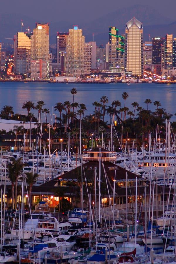 Hafen und Jachthafen in San Diego lizenzfreie stockbilder