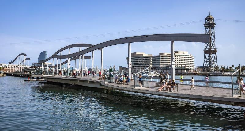 Hafen Vell und der Rambla Del Mar lizenzfreie stockfotografie