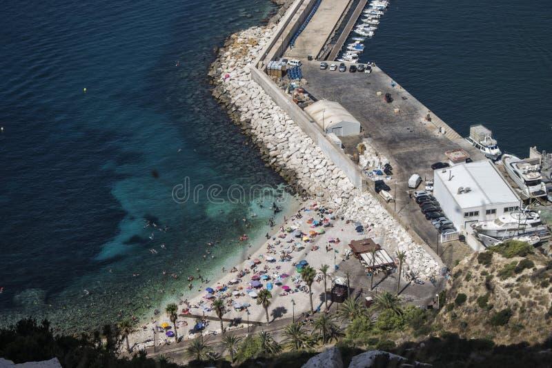 Hafen von Calpe, Alicante stockfotos