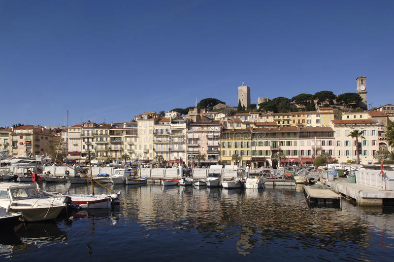 Hafen von Cannes, französisches Riviera, stockfotografie