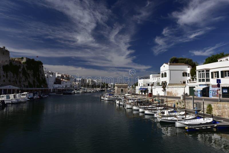Hafen von Ciutadella, Menorca, Spanien stockfotografie