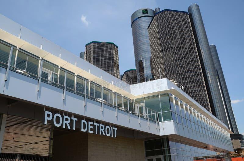 Hafen von Detroit in Detroit, MI stockbild
