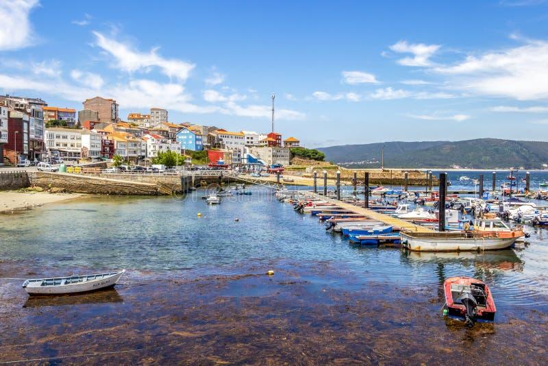 Hafen von Fisterra, Galizien, Spanien lizenzfreie stockfotografie