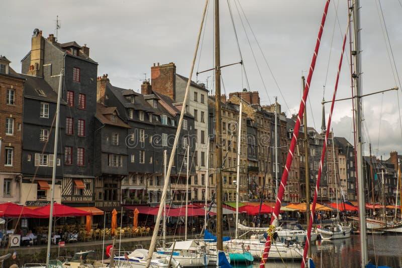 Hafen von Honfleur lizenzfreie stockfotografie