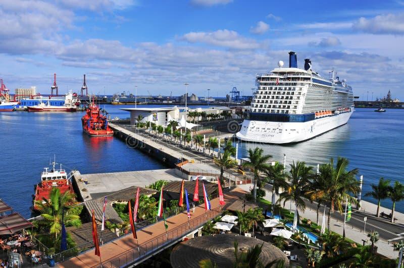Hafen von Las Palmas de Gran Canaria, Spanien lizenzfreies stockbild