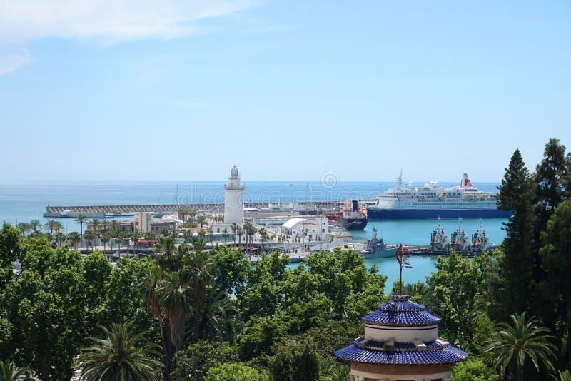 Hafen von Màlaga in Andalusien, Spanien stockfoto