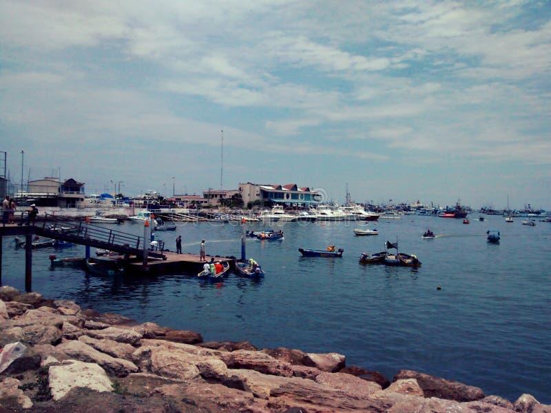Hafen von Manta, Ecuador lizenzfreies stockfoto