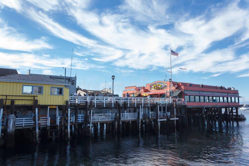 Hafen von Monterey stockfotos