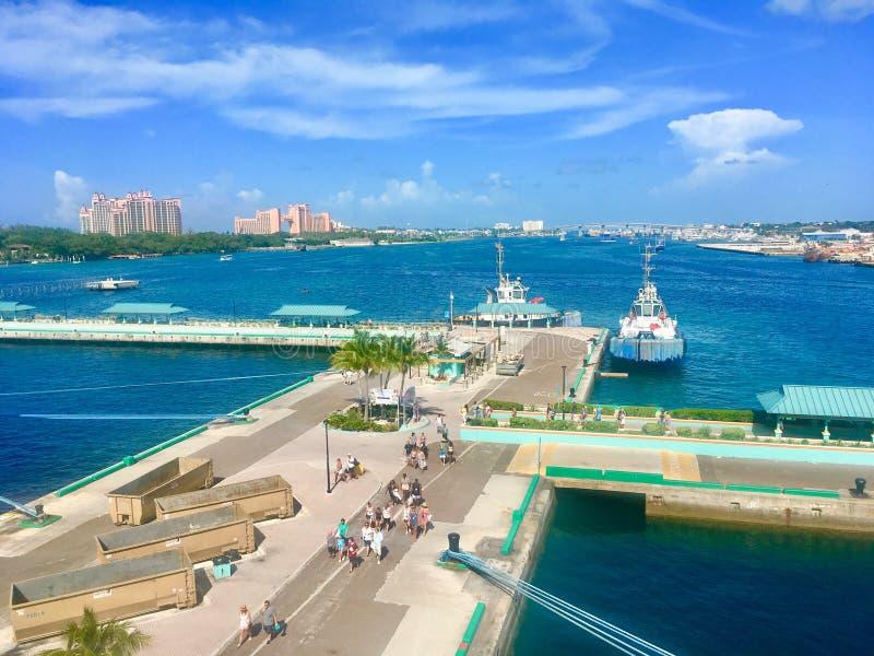 Hafen von Nassau stockfoto