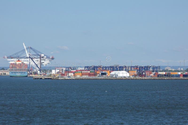 Hafen von New York und von New-Jersey stockbild