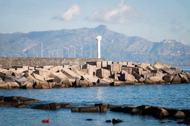 Hafen von Riposto lizenzfreies stockbild