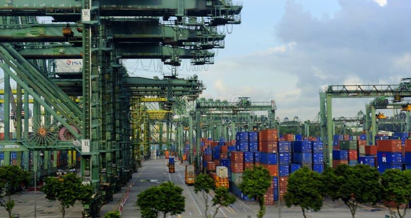 Hafen von Singapur stockbild