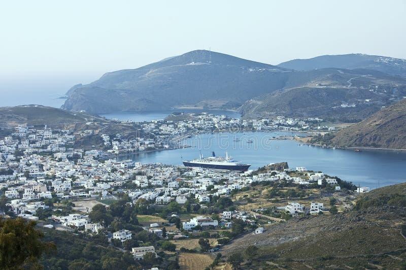 Hafen von Skala stockfoto