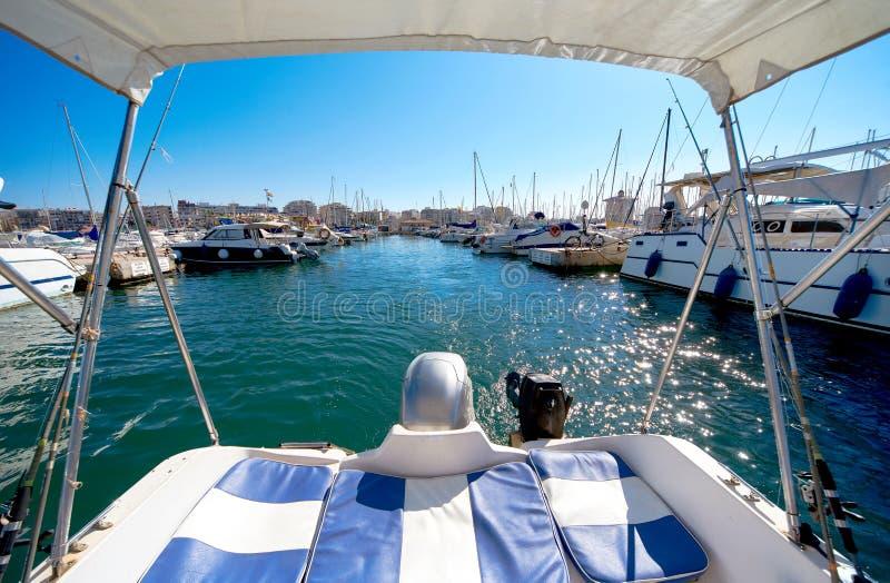 Hafen von Torrevieja-Stadt Costa Blanca spanien stockfotografie