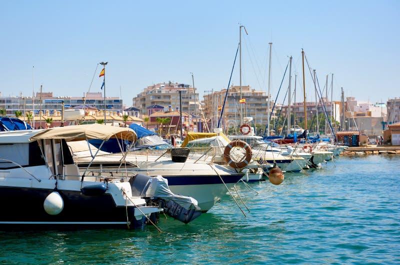 Hafen von Torrevieja-Stadt Costa Blanca spanien lizenzfreie stockbilder