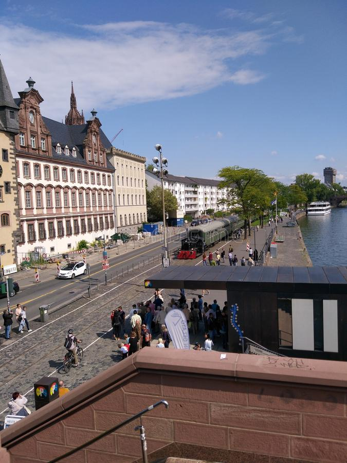 Hafenbahn Fahrtag Frankfurt am Main lizenzfreie stockfotos
