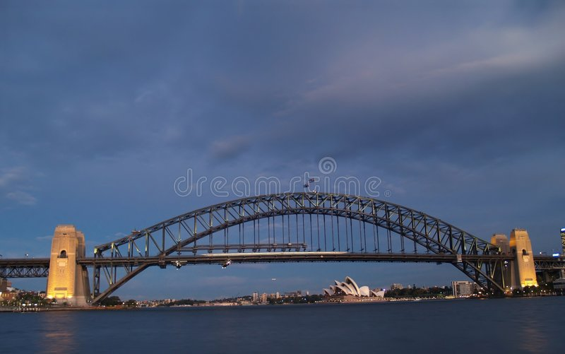 Hafenbrücke stockbilder