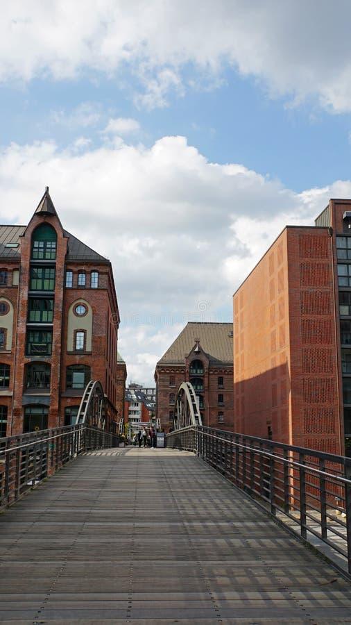 Hafencity royalty-vrije stock foto