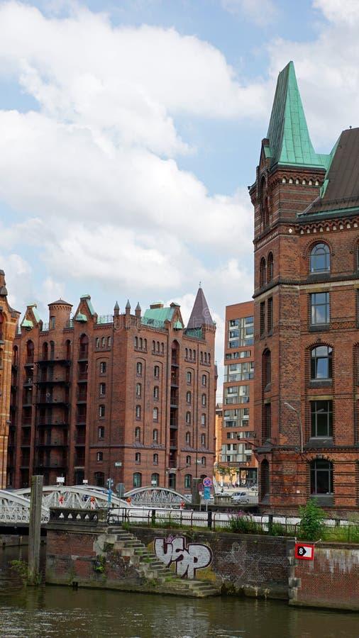 Hafencity royalty-vrije stock afbeelding