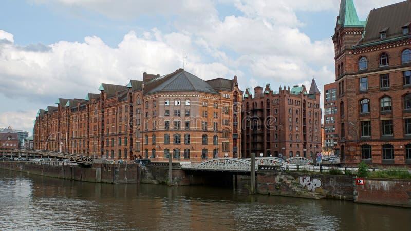 Hafencity stock foto