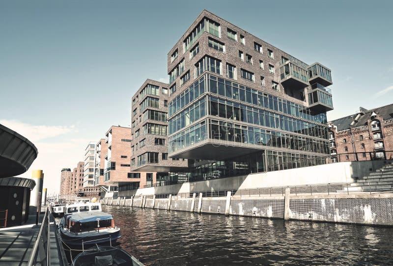 Hafencity en Hamburgo fotos de archivo libres de regalías